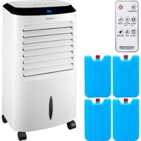 Air Cooler Humidifier 4in1 Remote Control 10L Tank LED Display Timer Portable Air Conditioning Unit Ventilator Fan Ionizer Air Conditioner