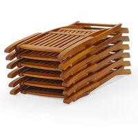 Boston Garden Chair 6pcs Set Acacia Wood Foldable Weatherproof Outdoor Terrace Armchair