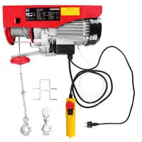 Monzana Electric Winch Lifting Height 12m Cable Pull Motor Winch Pulley Block Hoist Cable Motor Wind 125/250 kg (de)
