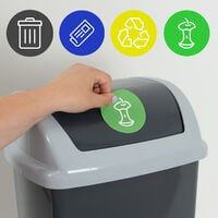 Monzana Trash Can With Lid Incl. 4 Waste Separation Stickers Plastic 24 L Round Swing Lid Kitchen Rubbish Bin Various Colours Anthrazit (de)