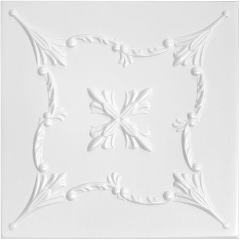 Carreaux plafond   XPS   rigide   Hexim   50x50cm   NR.72