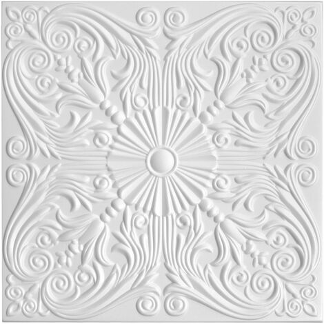 Dalles de plafond | XPS | rigide | Hexim | 50x50cm | No.76