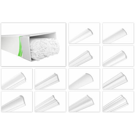Moulure de plafond moulées en polystyrène dur XPS stuc HEXIMO Paquet gratuit