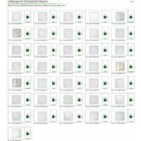 Carreaux plafond | XPS | rigide | Hexim | 50x50cm | No.114