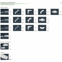 Moulure stuc | XPS | stable | Marbet | 22x22mm | E-1