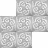Dalles de plafond | Effet panoramique | XPS | 50x50cm | Hexim | Gris
