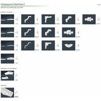 moulures en stuc   XPS   stable   Marbet   35x35mm   E-42