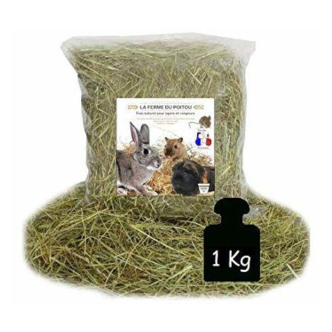 LA Ferme du Poitou - Foin pour Lapins ET RONGEURS - DE 500GR A 10 KG - Qualite SUPERIEUR (1KG)