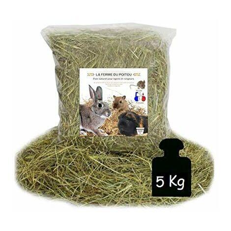 LA Ferme du Poitou - Foin pour Lapins ET RONGEURS - DE 500GR A 10 KG - Qualite SUPERIEUR (5KG)