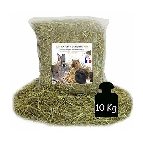 LA Ferme du Poitou - Foin pour Lapins ET RONGEURS - DE 500GR A 10 KG - Qualite SUPERIEUR (10KG)