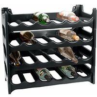 Cave a vin modulable, etagere a bouteille, Casier a bouteille, Range bouteille, Porte bouteille (24 emplacements de bouteilles, Gris Anthrazit)