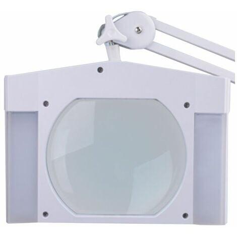 Lampe-loupe LED étau lentille 189 x 157 mm 5 dioptries (60 LEDS), 12 Watts