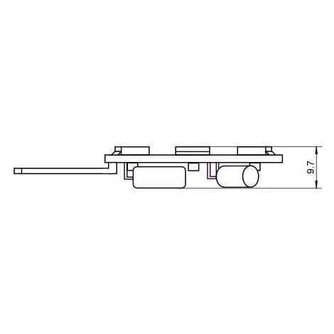 Lampe LED G4 12V 1W5 blanc chaud diamètre 23 mm