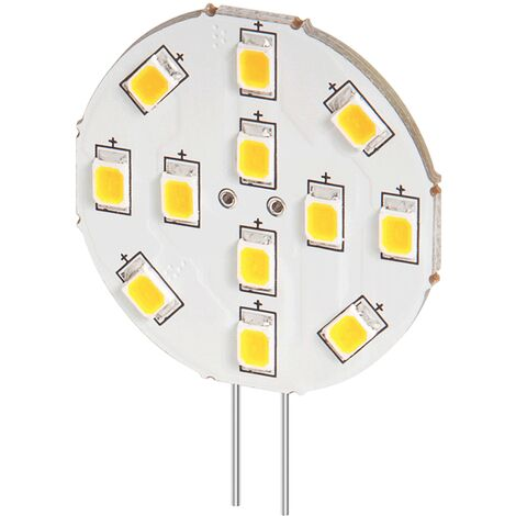 Lampe LED G4 12V 2W blanc froid diamètre 30 mm