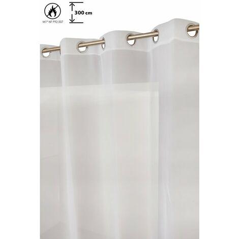 Voilage Blanc à œillets en Gaze Décoration pour Porte Fenêtre Anti-Soleil