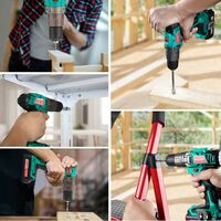 Cordless Drill Driver 18V, HYCHIKA 35N·m Electric Drill with 1500mAh Li-Ion Battery, 21+1 Torque Setting and Variable Speed, 22PCS Accessories, 1H Fast Charging, Bag for Drilling and Screw Driving