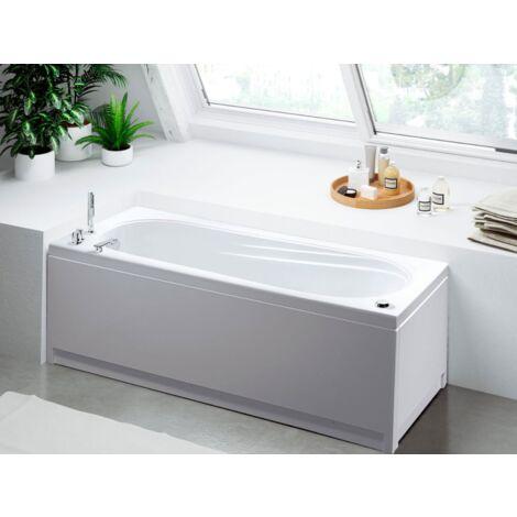 Glass Vasca idromassaggio Astor 170x70 rettangolare bianca completa di rubinetteria