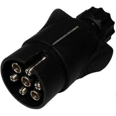 Fiche mâle 7pin prise connecteur de remorque 7 broches 12V 6mm attelage faisceau câble câblage feux arrières stop