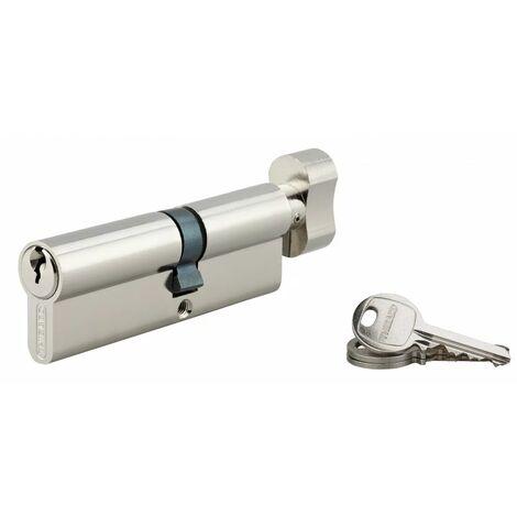 THIRARD - Cylindre à bouton 40 x 50 mm nickelé 3 clés