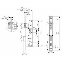 THIRARD - Boîtier serrure à cylindre axe 30 l 45 Entraxe 92