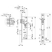 THIRARD - Boîtier serrure à cylindre axe 21 l 36