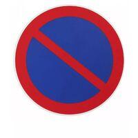 THIRARD - Plaque signalétique Ø 180mm stationnement interdit avec adhésif