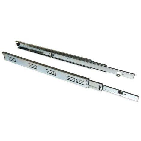 Coulisses hauteur 45 mm fixation sous tiroir extension totale - talla 350mm