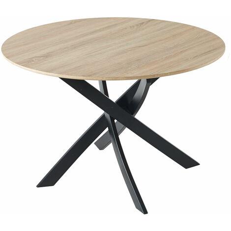 Tavolo da pranzo fisso rotondo, soggiorno, modello ZEN ...