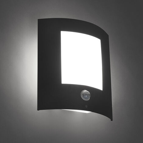 Outdoor wall lamp anthracite with motion sensor IP44 - Emmerald 1