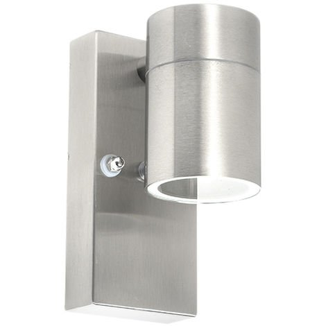 Outdoor Wall Lamp with Twilight Switch Steel IP44 - Solo