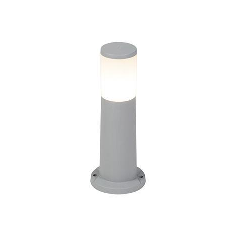 Modern Pole Grey 40cm IP55 incl. E27 LED bulb - Carlo