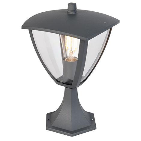Modern Outdoor Lantern Pedestal Dark Grey - Platar