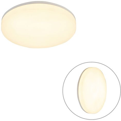 Round ceiling lamp white incl. LED with motion detector - Plater