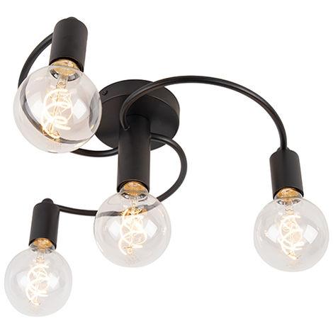Art Deco Ceiling Lamp 4 Black - Facil
