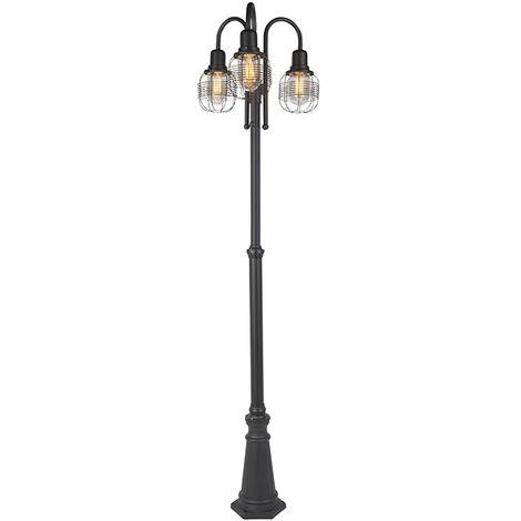 Rural outdoor lamp black 3-light IP44 - Guardado
