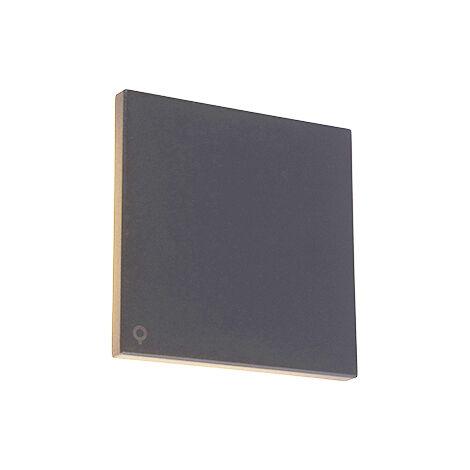 Design wall lamp grjis 15 cm incl. LED IP54 - Skyf