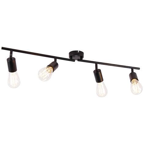 Modern spot black 4-light adjustable - Facil