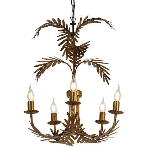 Vintage chandelier gold 5-light - Botanica