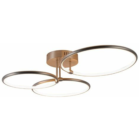 Design ceiling lamp steel incl. LED 3-step dimmable 3-light - Joaniqa