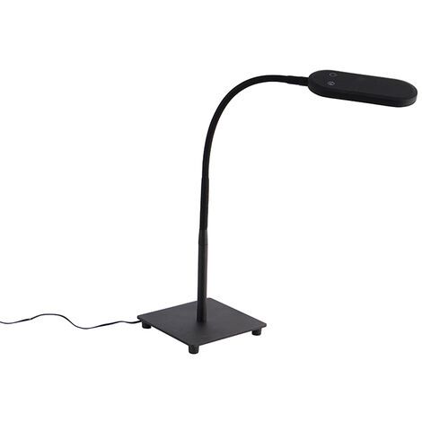 Modern table lamp black incl. LED 4-step dimmable - Botot