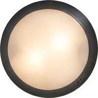 Ceiling Lamp Black with Sensors IP65 - Umberta