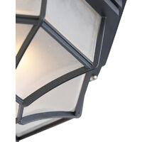 Country ceiling lamp dark gray IP44 - Bri L