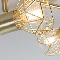 Art Deco Adjustable Spotlight Brass - Mosh 2