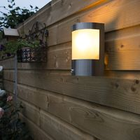 Outdoor wall light stainless steel light-dark sensor - Mira