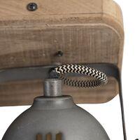 Industrial spot steel with wood tiltable 2-light - Emado