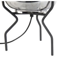 Design table lamp black with smoke glass - Bliss