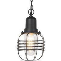 Rural outdoor hanging lamp black IP44 - Guardado