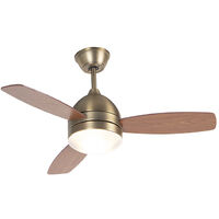 Ceiling fan bronze with remote control - Rotar