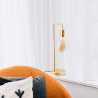 Art Deco table lamp brass - Facil
