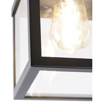 Industrial smart outdoor ceiling lamp black incl. ST64 Wifi - Rotterdam